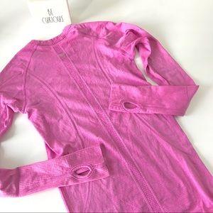 Lululemon swiftly long sleeve pink tech run top 4